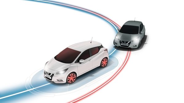 Nissan Micra Intelligent Trace Control Illustration