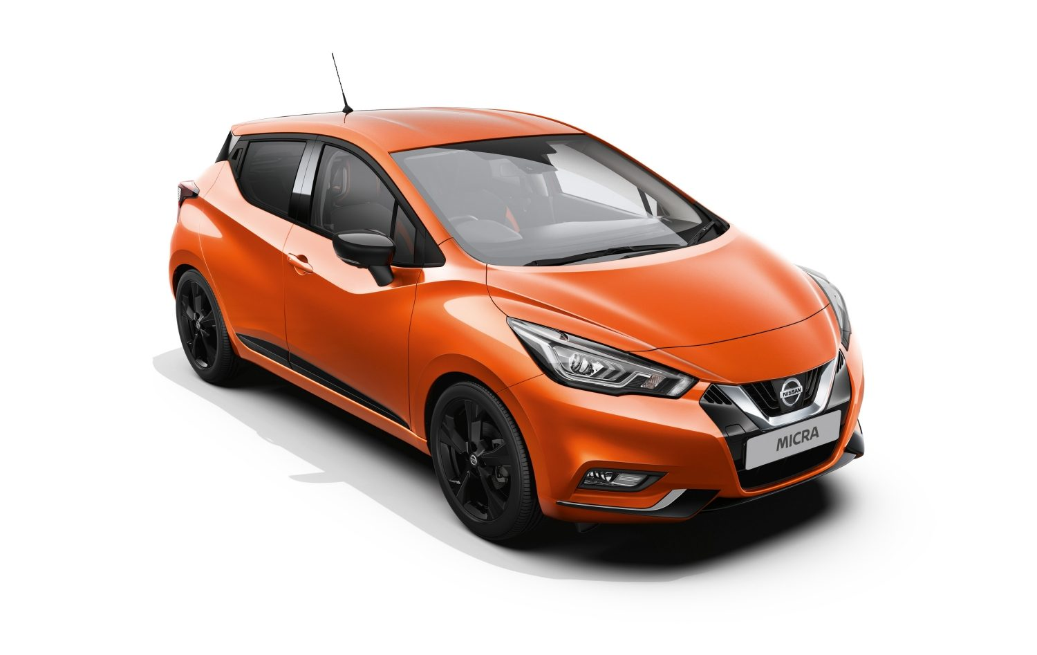 Nissan Micra 1.0L Petrol exterior in Orange