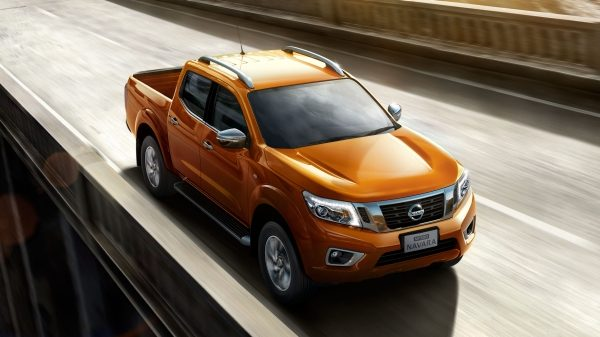 navara exterior driving on road
