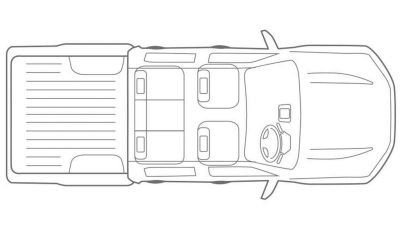 Nissan Navara overhead illustration