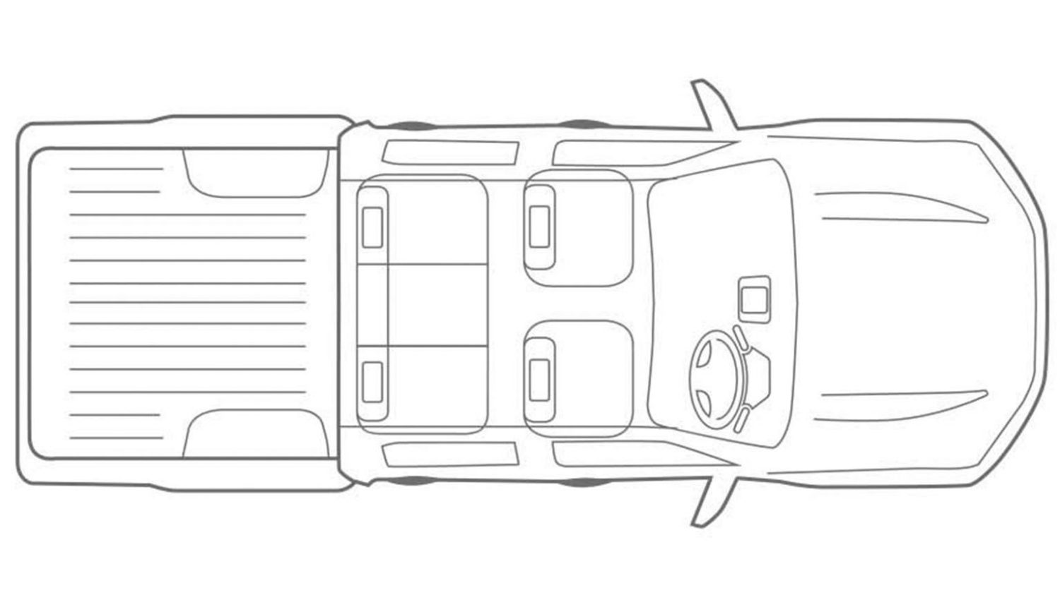 Overhead Vehicle Illustration