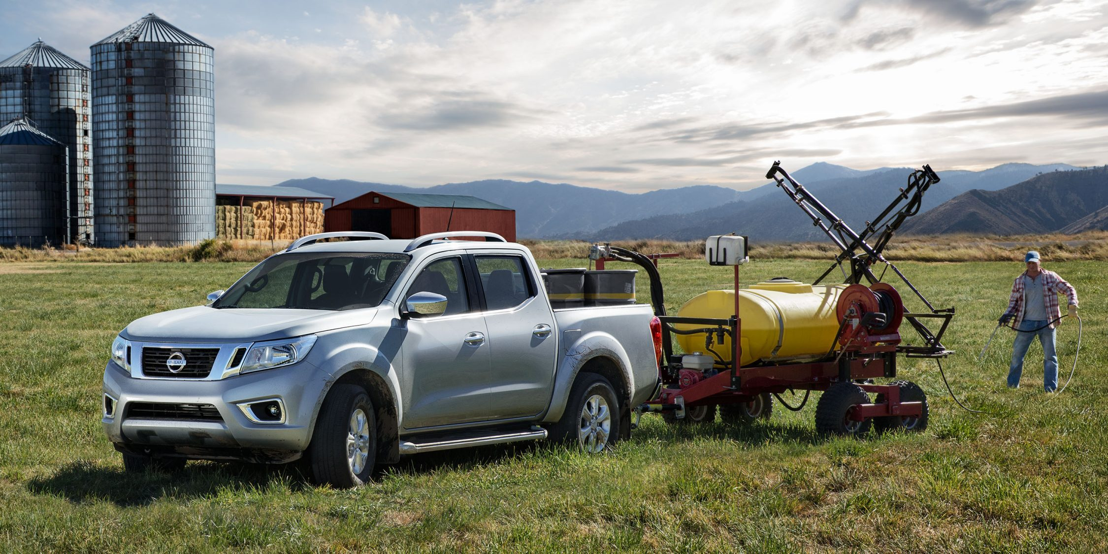 Nissan Navara at work on farm