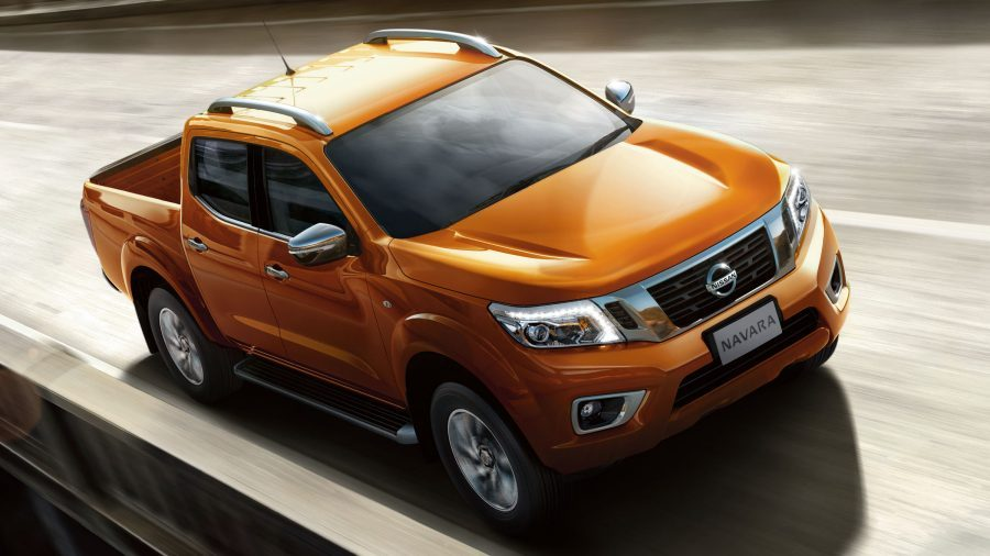 Nissan Navara driving on bridge