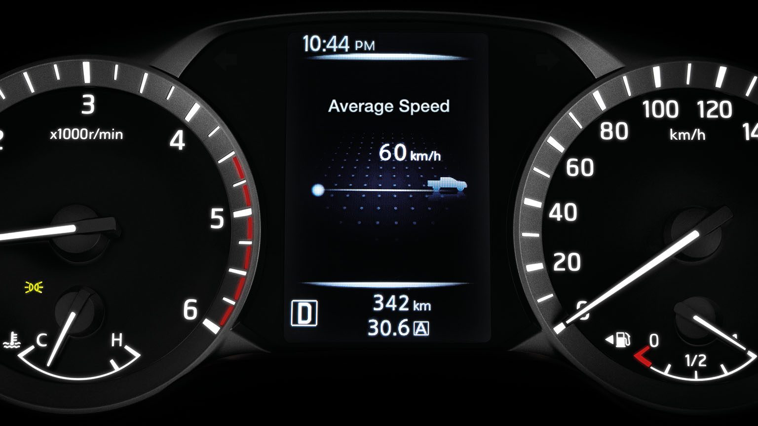Average Speed Display