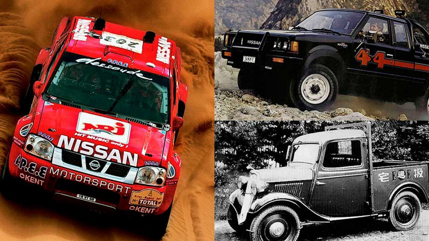 Nissan Navara heritage shots of older generation models