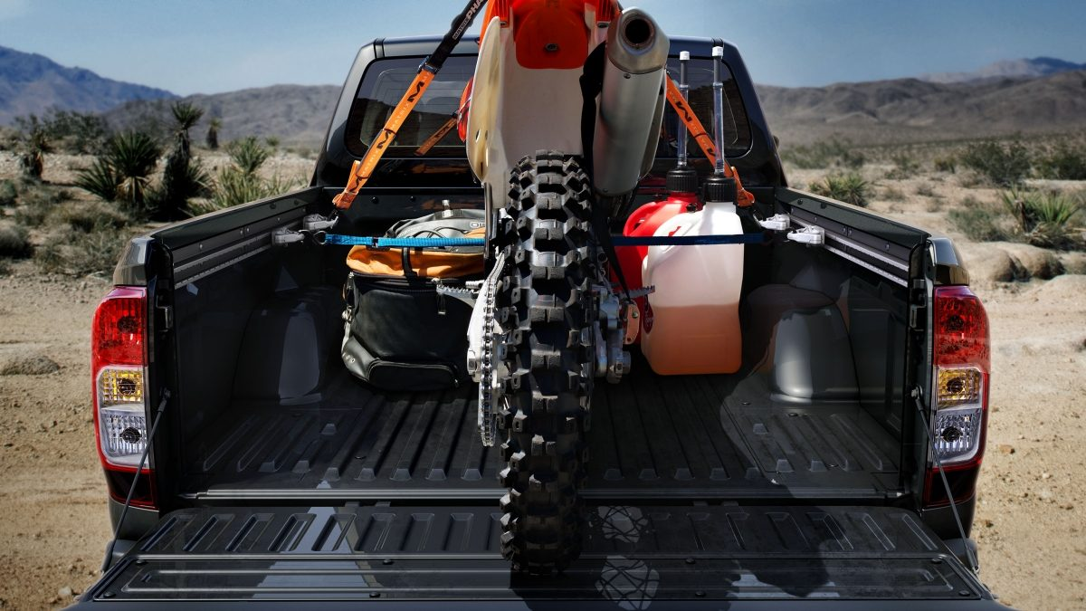 Rear Shot of Cargo Bed with Dirt Bike