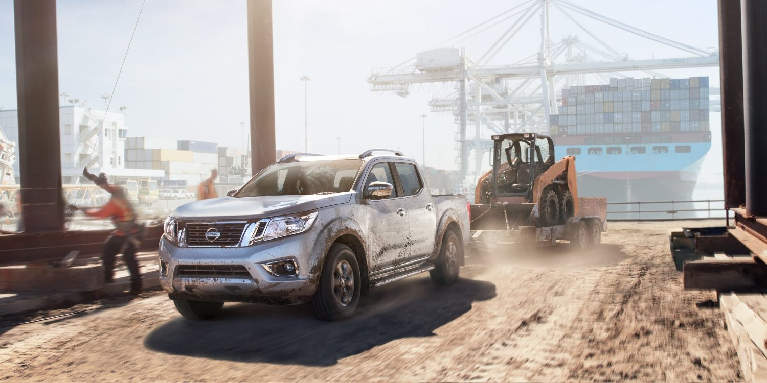 Nissan Navara at work in port setting