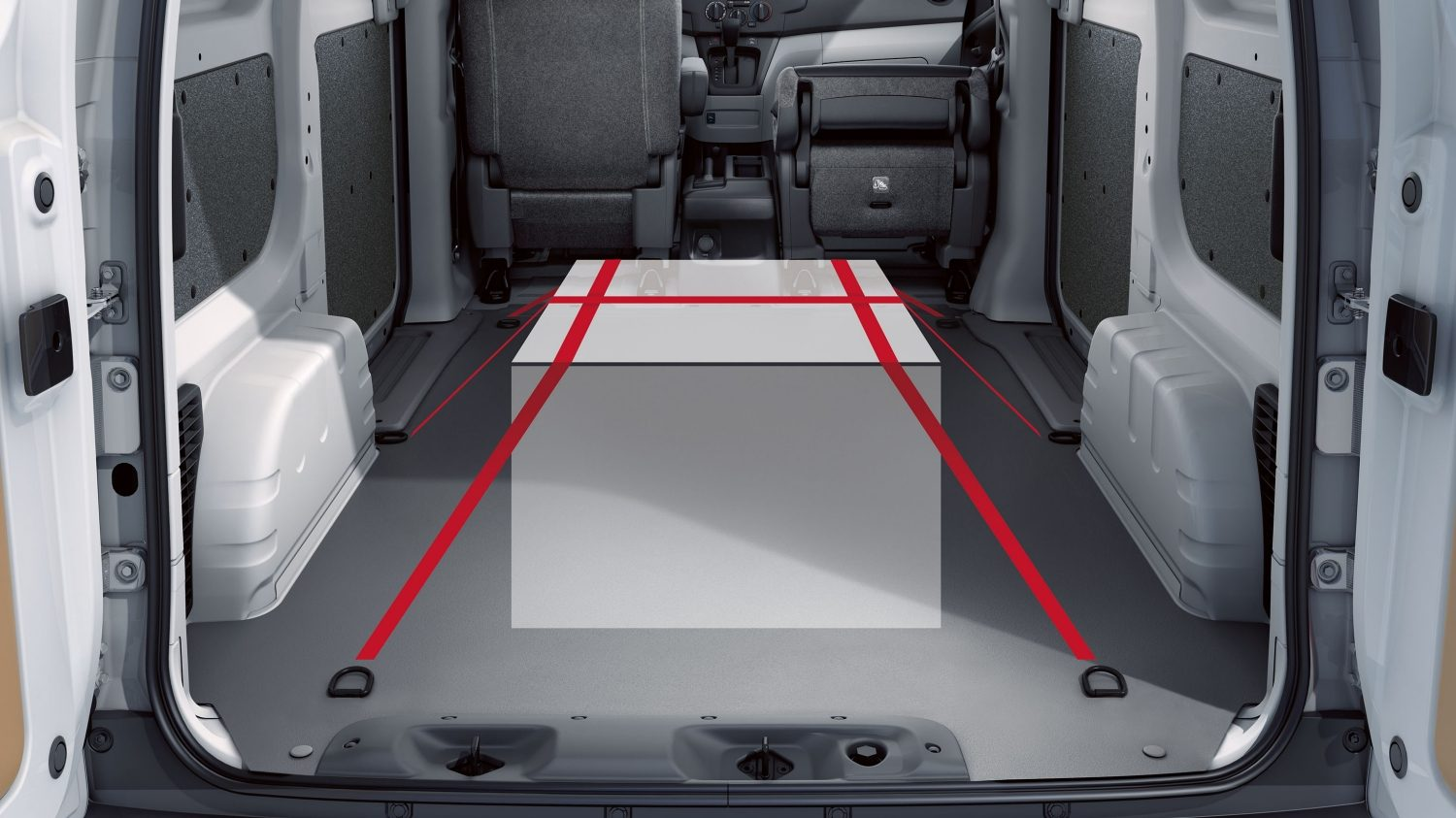 Rear Cargo Area with Tie-downs