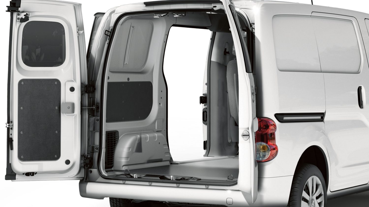 Rear 3/4 with Cargo Doors Open