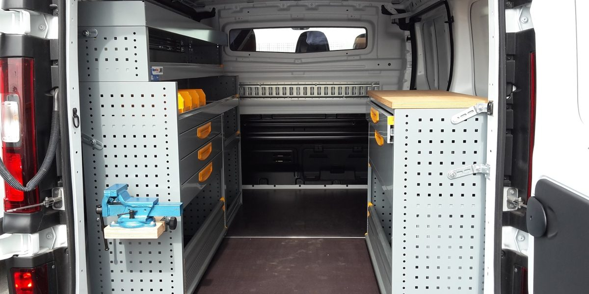 NV300 CONVERSIONS - MOBILE WORKSHOP STOREVAN REAR VIEW