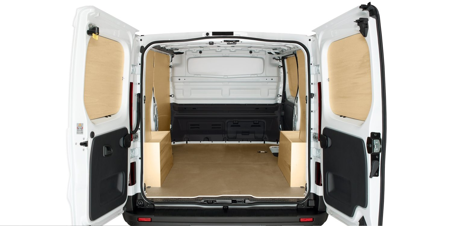 NV300 CONVERSIONS - WOOD TRIM REAR VIEW