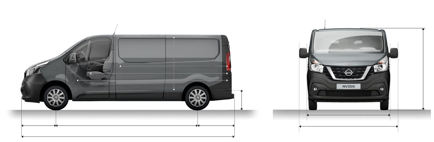 NV300 PANEL VAN L2H1 PROFILE + FRONT