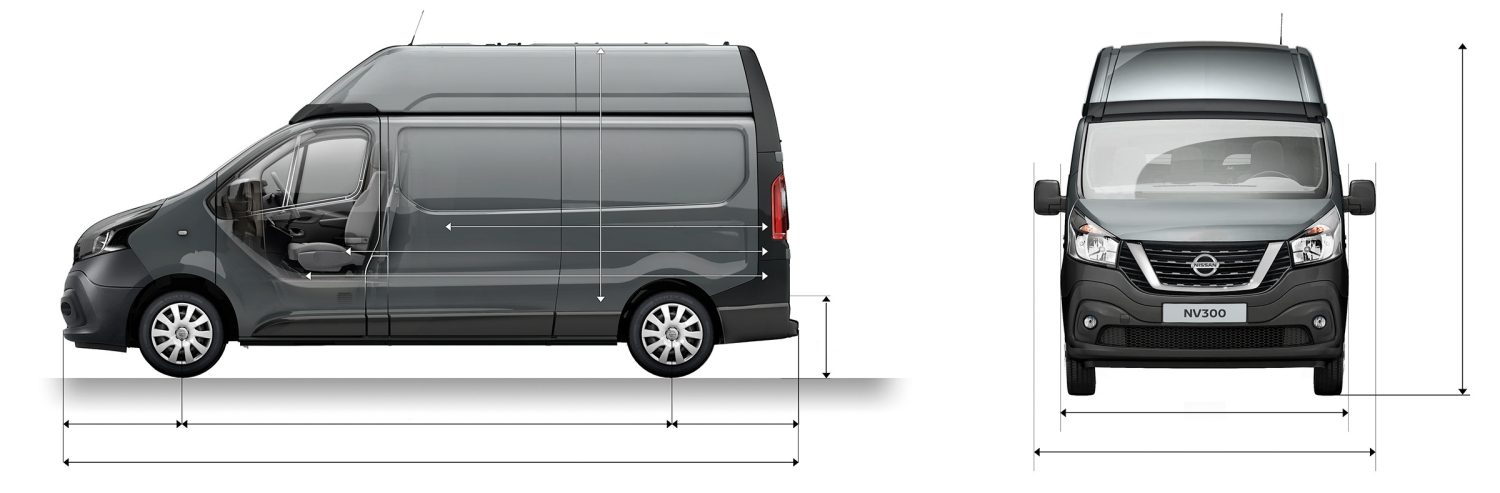 NV300 PANEL VAN L2H2 PROFILE + FRONT