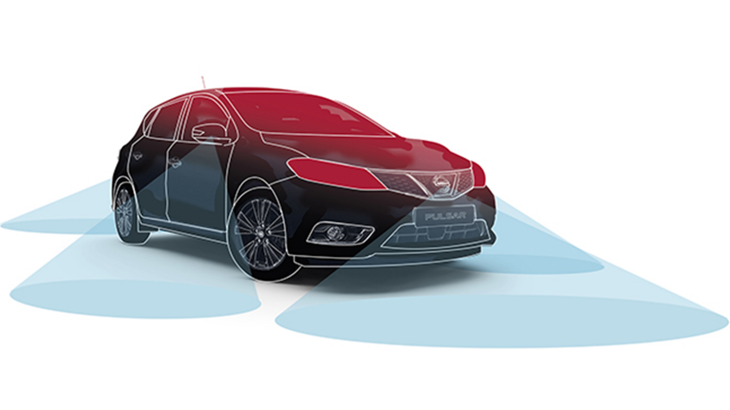 Nissan PULSAR - Illustration AVM - Vision 360°