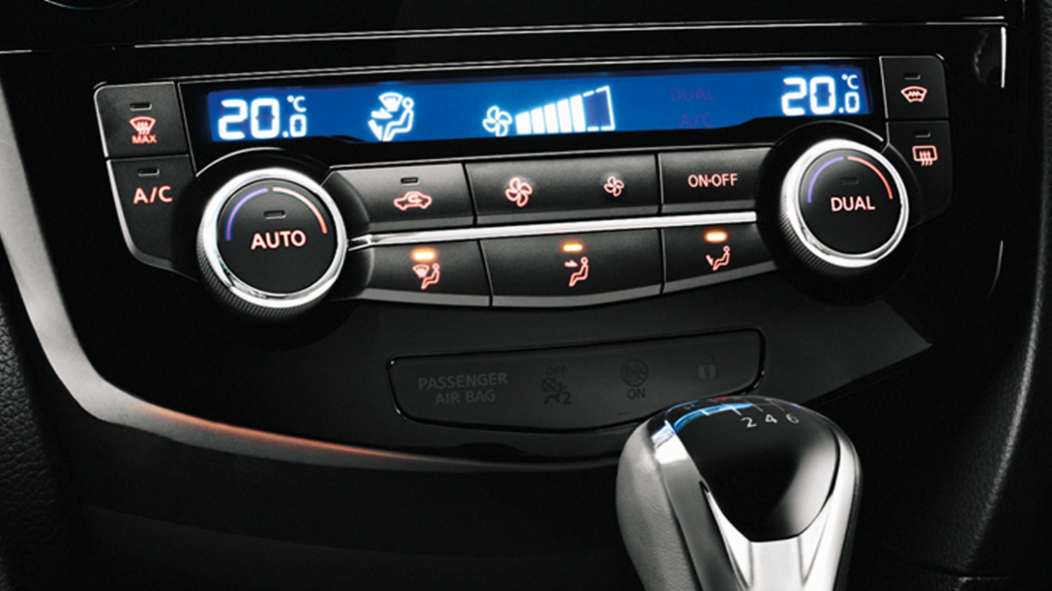 Small SUV features - Dual zone climate control | Nissan Qashqai