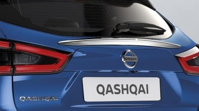 Qashqai rear glass finisher, chrome