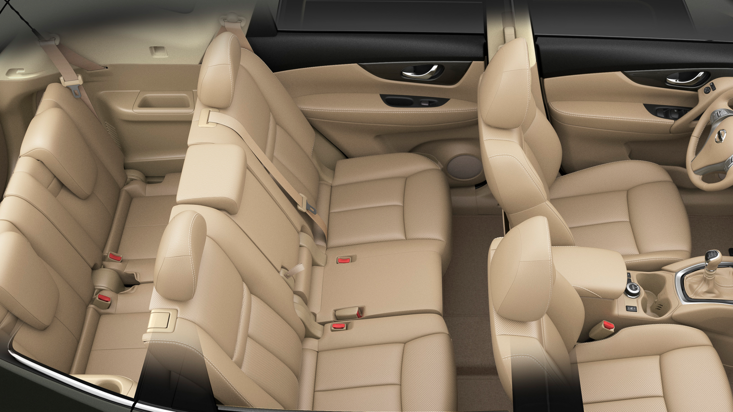 Nissan X-Trail - Overhead of three rows