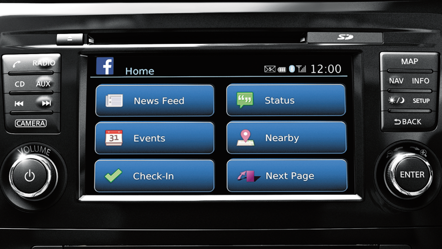 Nissan X-Trail - NissanConnect mobile apps screen