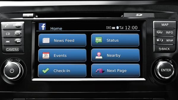 NissanConnect Mobile Apps screen
