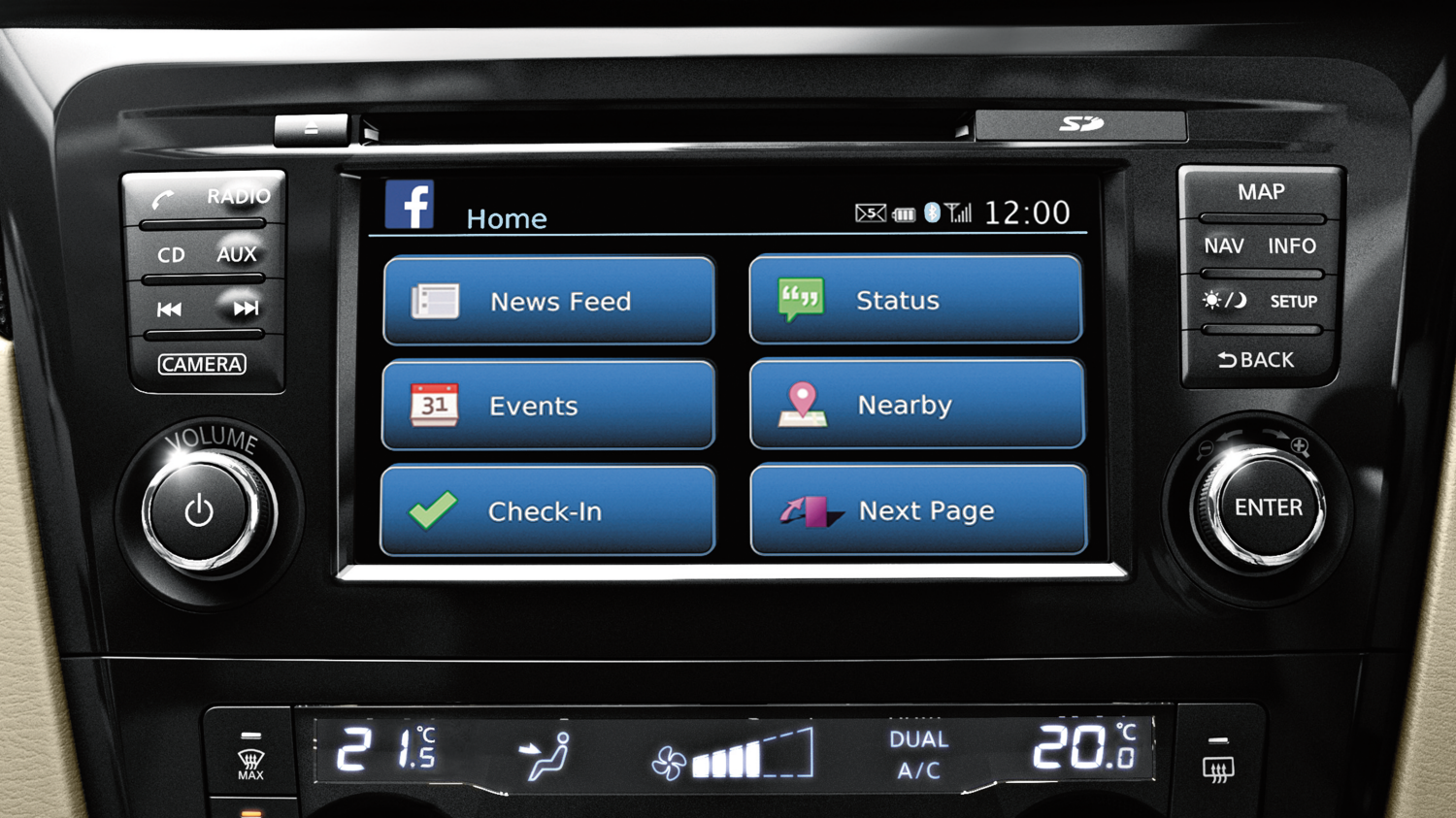 Nissan X-Trail - Dashboard system