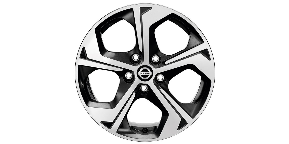 "X-Trail 17"" alloy wheel FLOW diamond cut black"