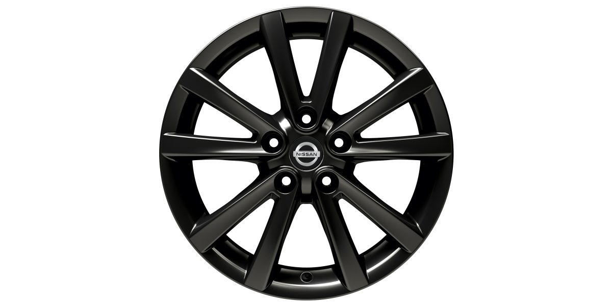 "X-Trail 17"" alloy wheel Fuji black"
