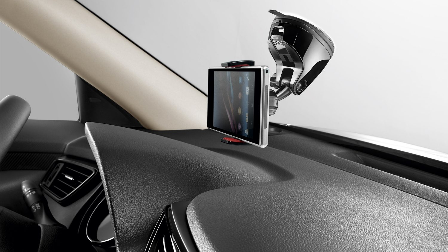 Nissan X-TRAIL smartphone-holder med 360-graders greb i sort