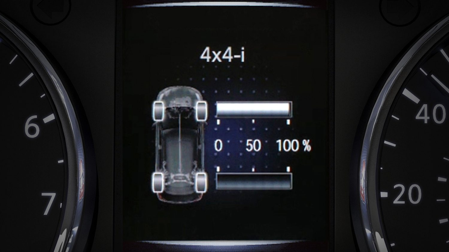 X-Trail TFT screen - Drive modes