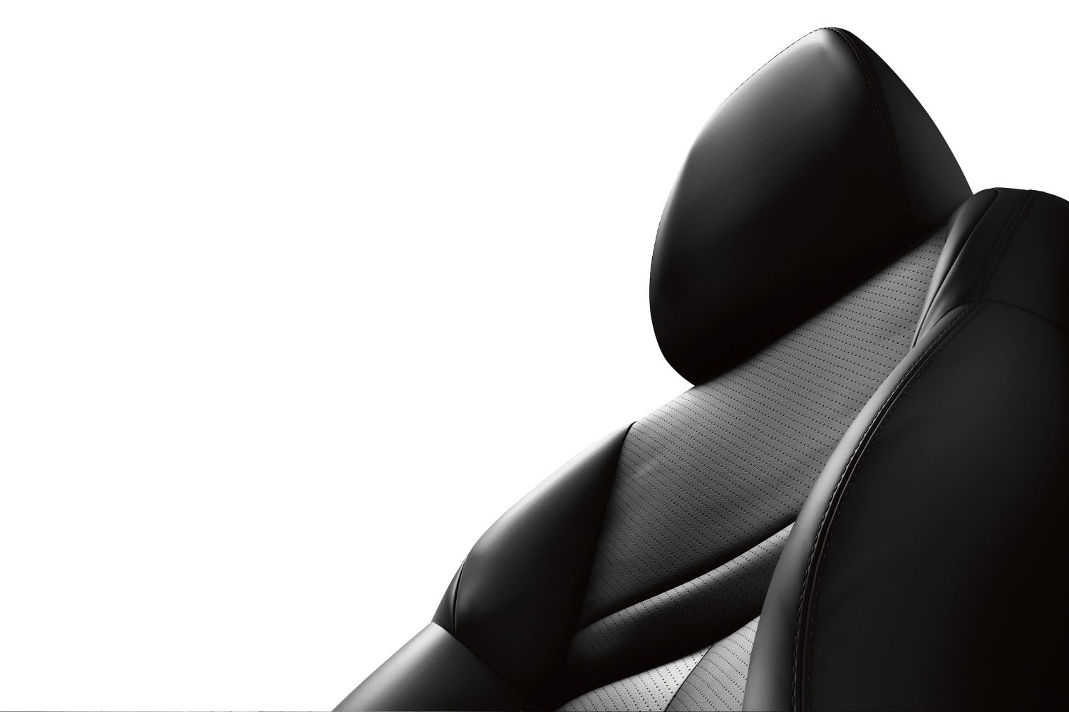 X-Trail detail shot of black seat