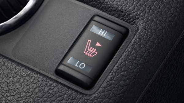 X-Trail detail shot of heated seat button
