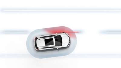 X-Trail Lane Departure Warning Illustration