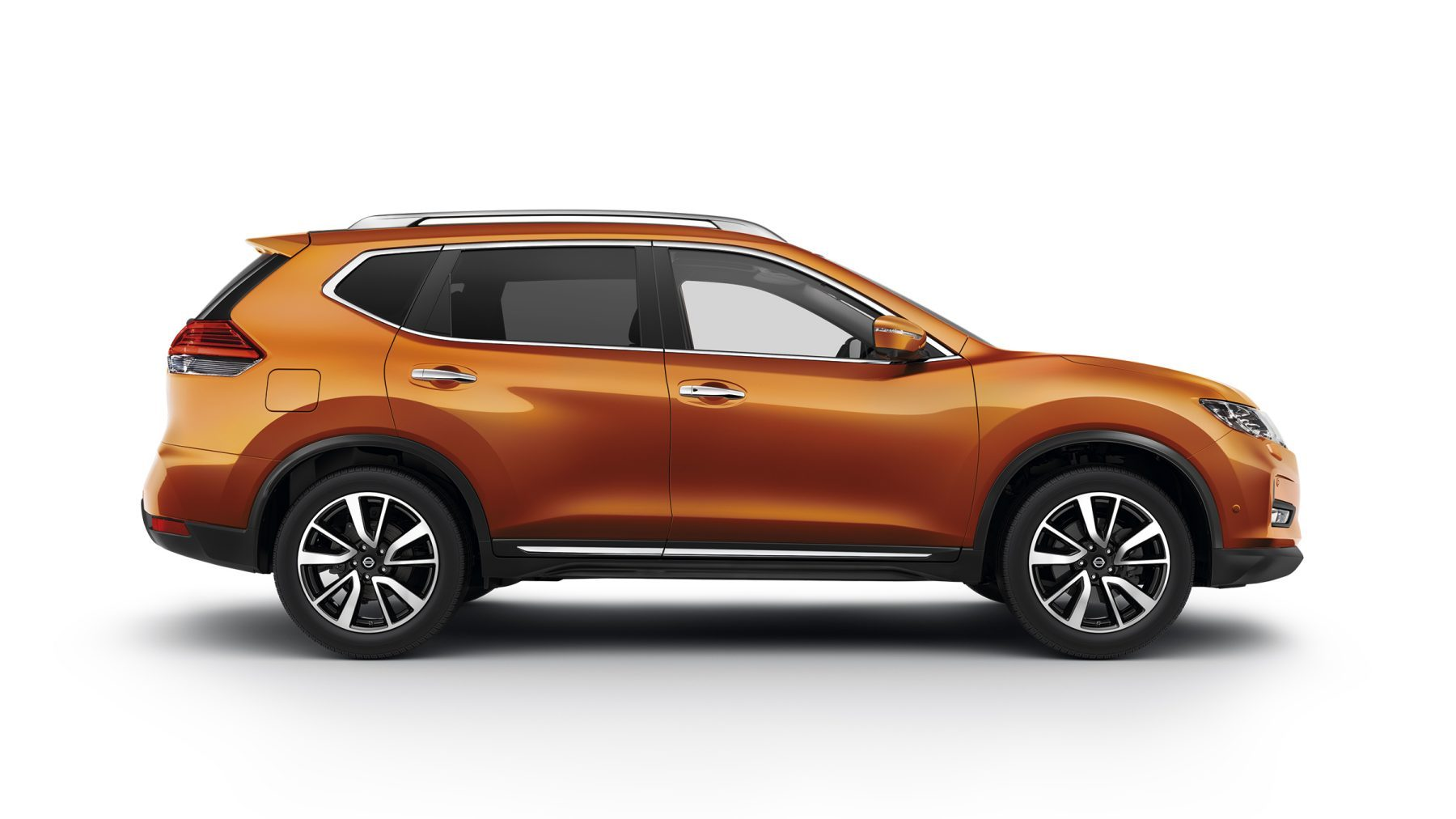 Orange 2018 NISSAN X-TRAIL side shot
