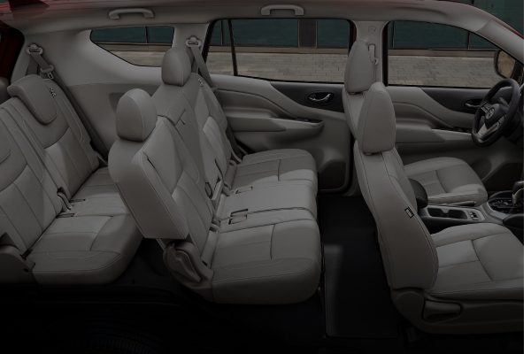 2021 Nissan X-Terra premium interior showing all rows