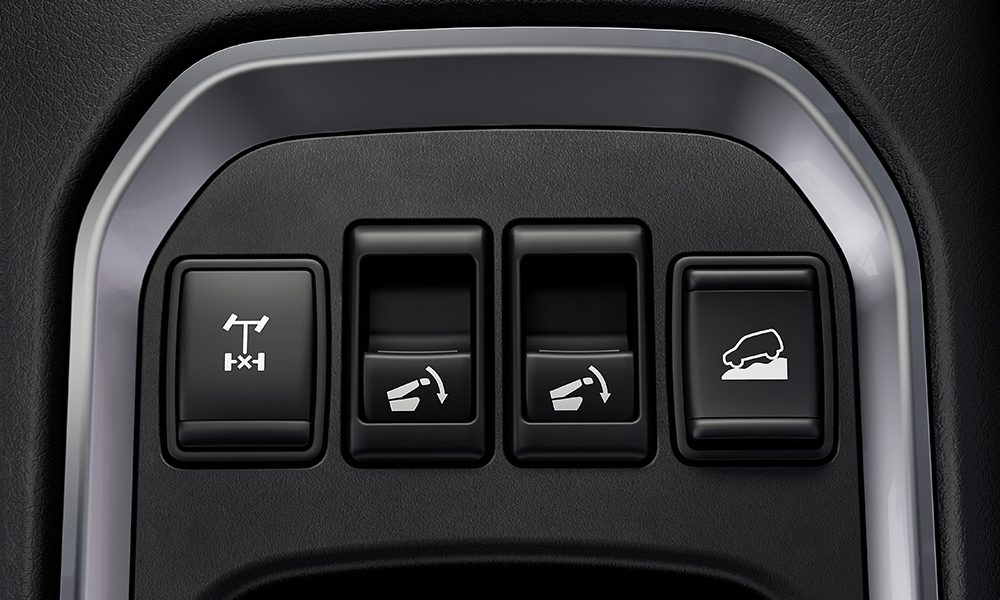 2021 Nissan X-Terra second row seat release button