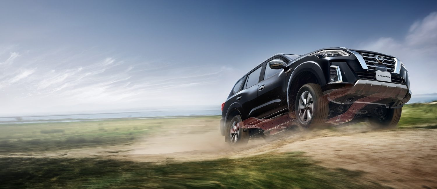 2021 Nissan X-Terra driving off-road