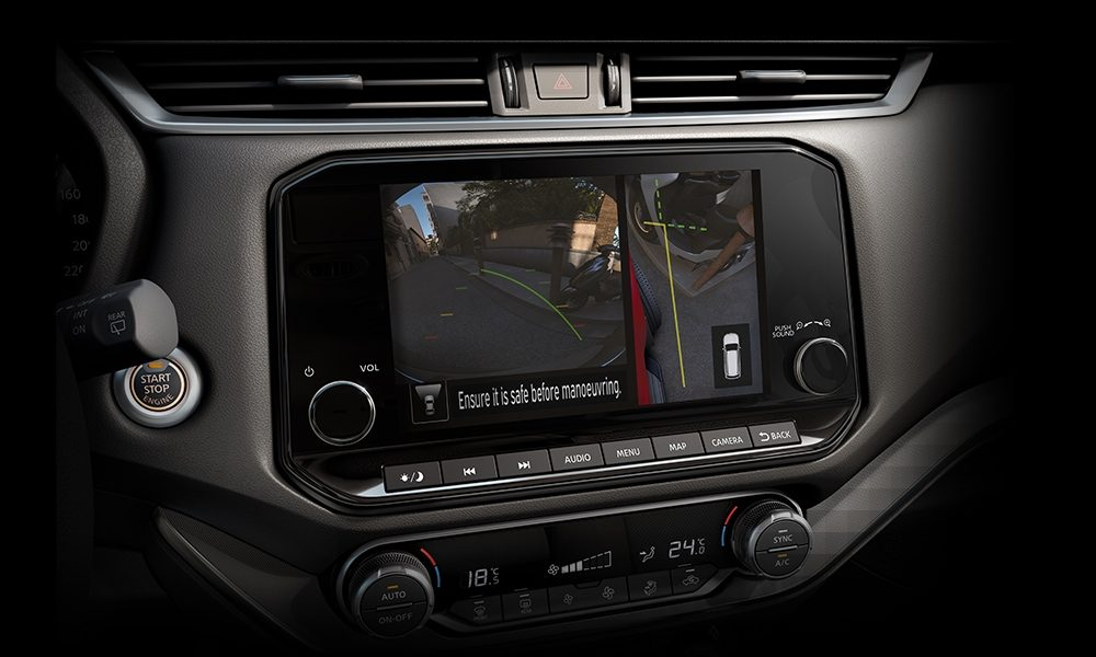 2021 Nissan X-Terra Around View Monitor screen