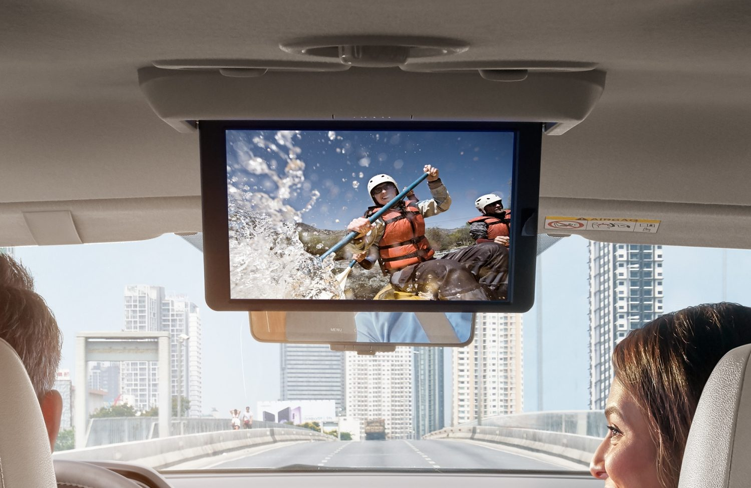 2021 Nissan X-Terra flip-down entertainment monitor
