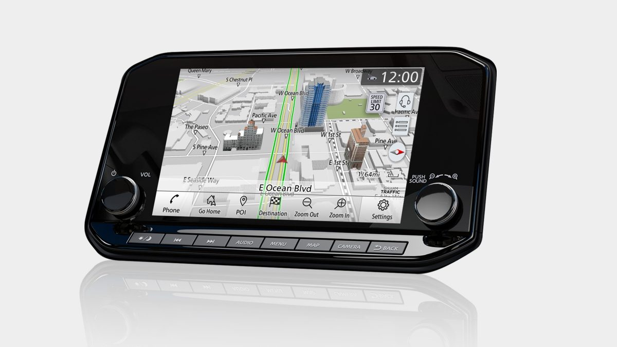 2021 Nissan X-Terra Navigation display