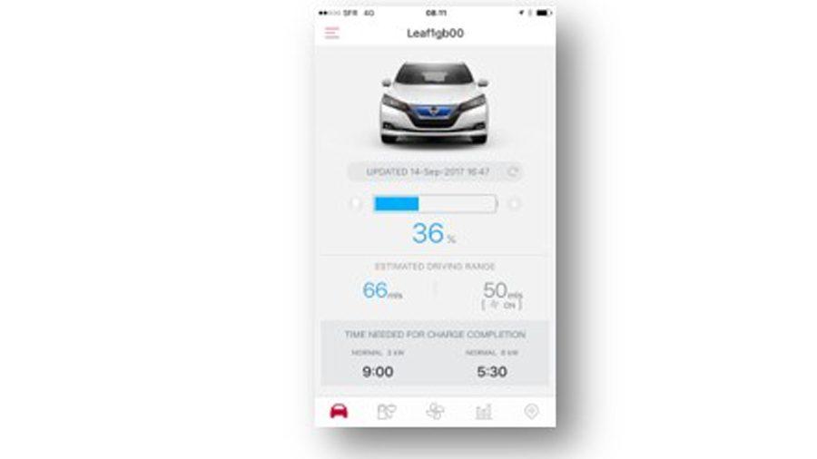 New Nissan LEAF Nissanconnect EV App ...