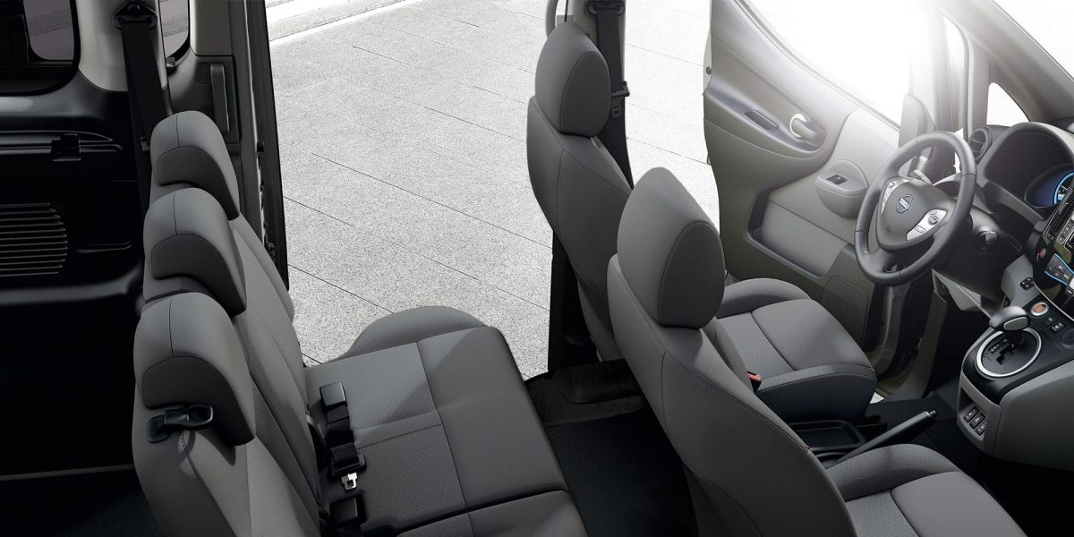 New Nissan e-NV200 Evalia interior view