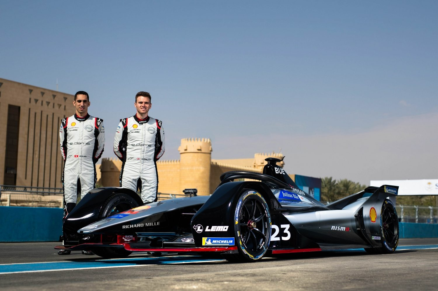 Nissan E.Dams team at the Formula E Electric Street Race