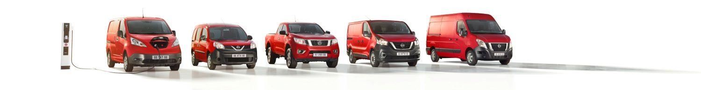 Nissan LCV lineup bedrijfswagens