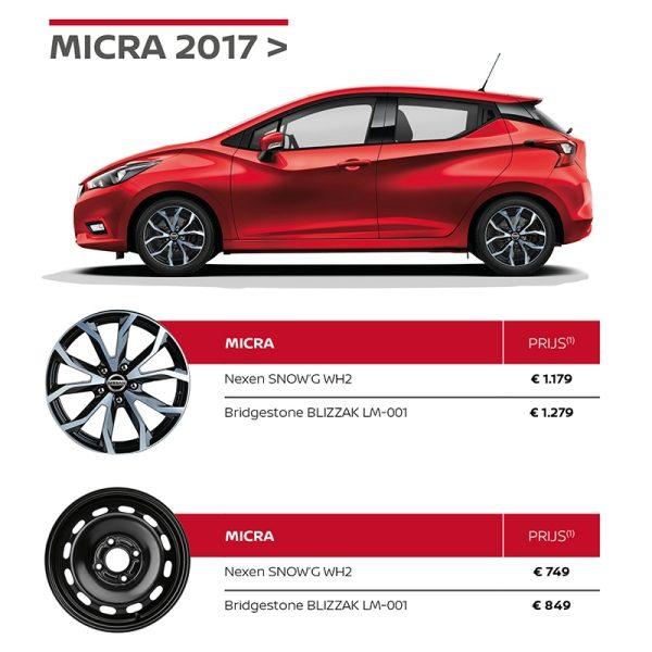 Nissan Winterbandenactie MICRA