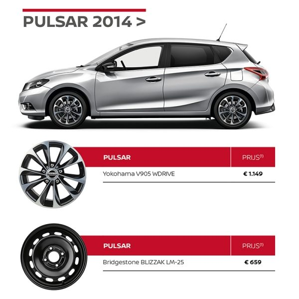 Nissan Winterbandenactie Pulsar