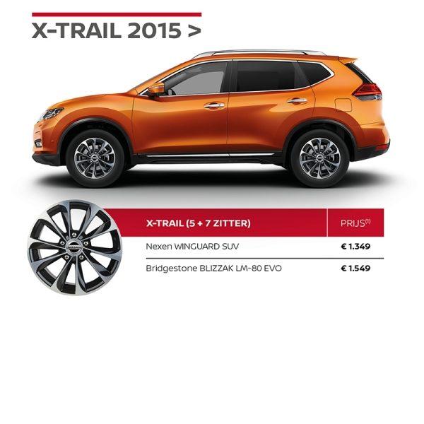 Nissan Winterbandenactie X-TRAIL
