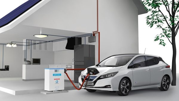 New Nissan Leaf using vehicle to grid solution
