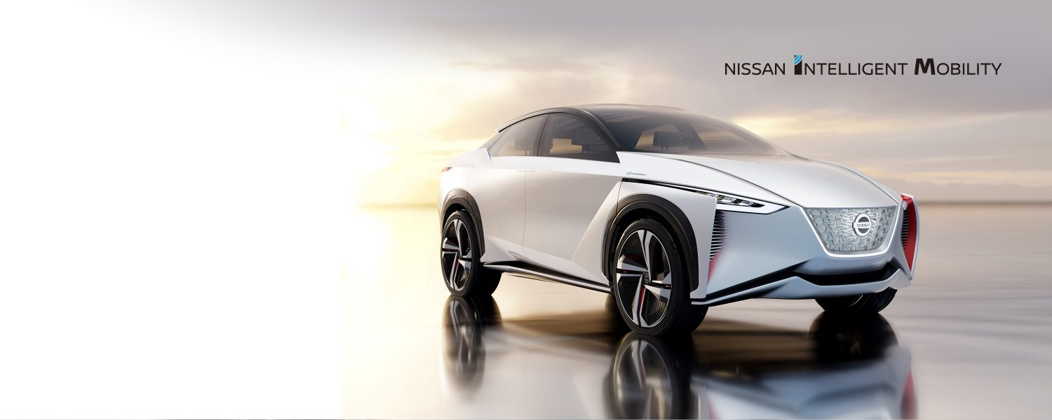 Nissan concept car with Nissan Intelligent Mobility logo