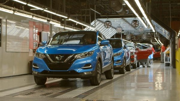 Nissan Qashqai production line in Sunderland plant