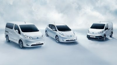 Nissan electric vehicle range