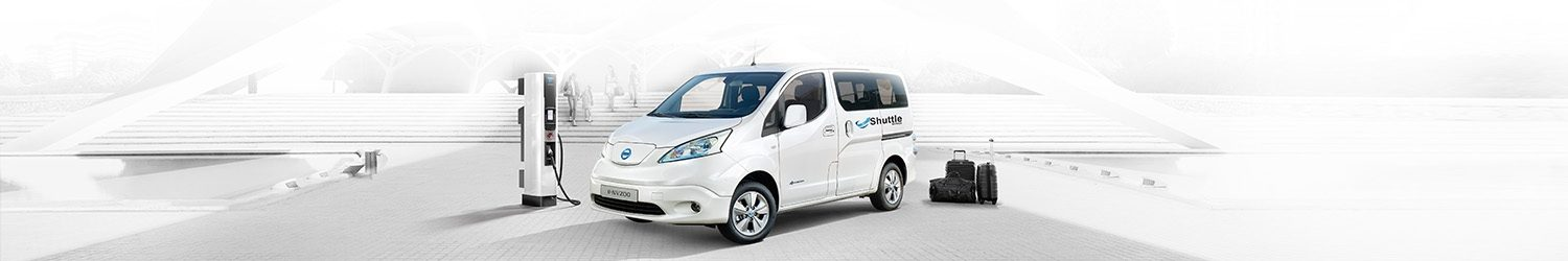Nissan e-NV200 plugged into charger